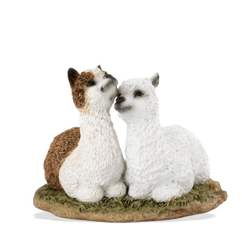 llama friends fairy garden figurine