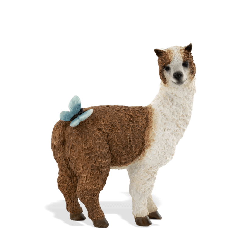 llama with butterfly figurine for fairy gardens