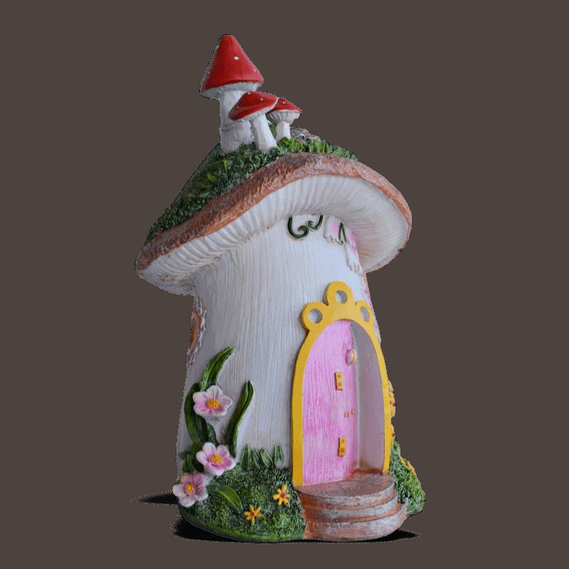 Mushroom House with Solar Light