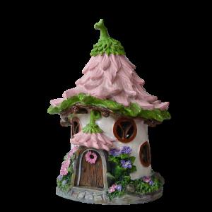 Pink Dahlia Fairy House – Solar