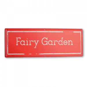 Fairy Garden Sign – Red