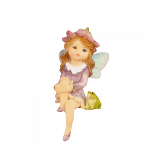 Garden Fairy Sitting with Frog