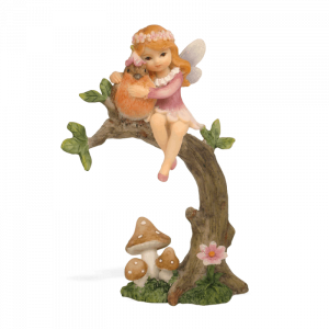 Garden Fairy with a Robin