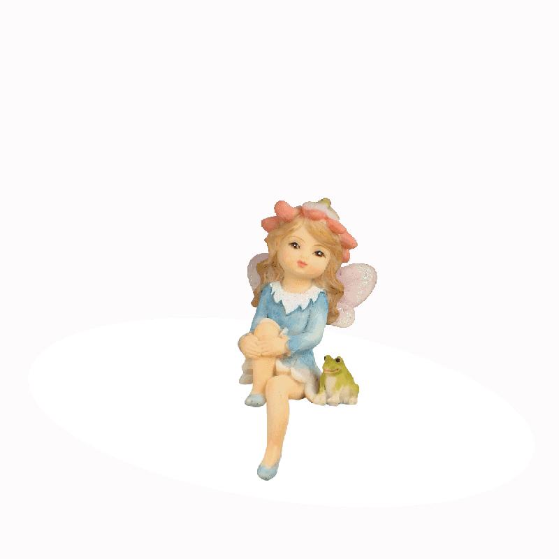 Garden fairy with frog_1