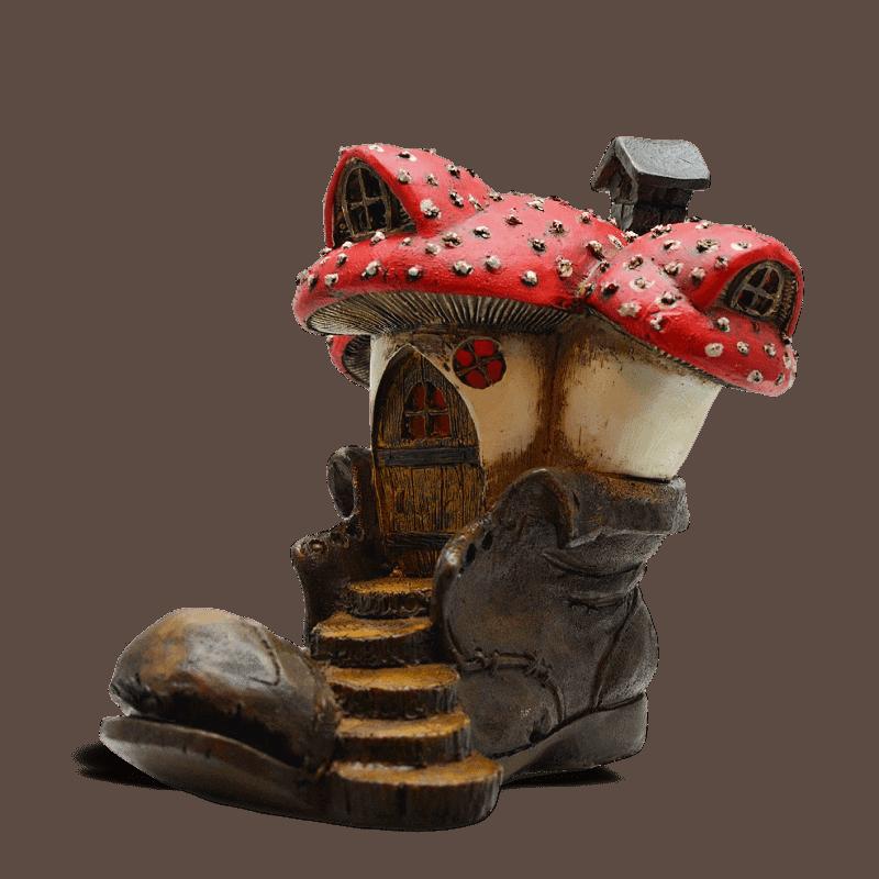 Mushroom Boot Fairy House
