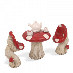 Mushroom Table & Tea Set