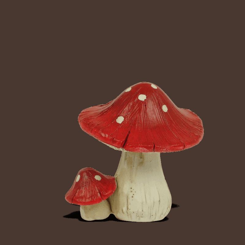 Red Mushroom Round