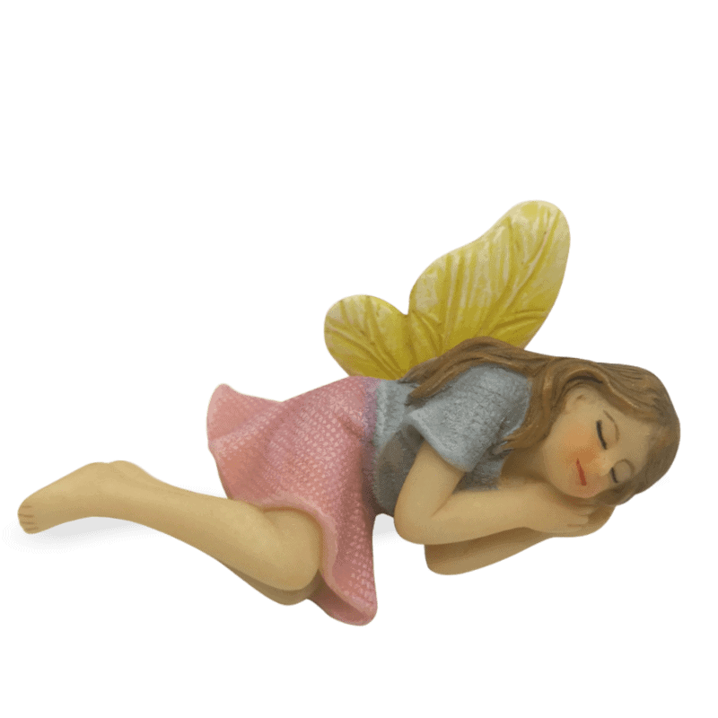 Sleeping Fairy with Yellow Wings