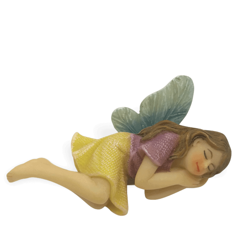 Sleeping Fairy with Blue Wings