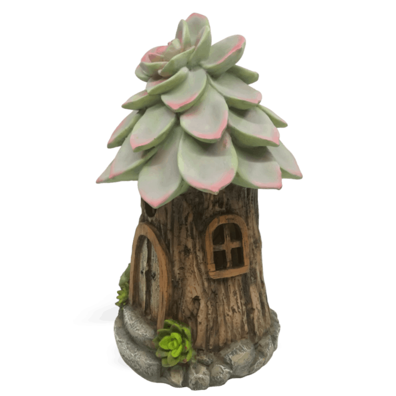 Succulent Solar Fairy House
