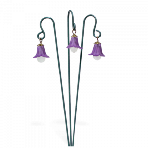 Glowing Flower Lantern Set – Purple