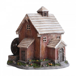 Waterwheel Fairy House – Solar