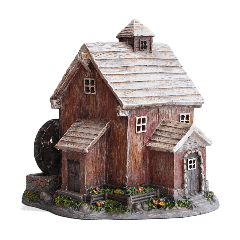 Waterwheel Solar Fairy House