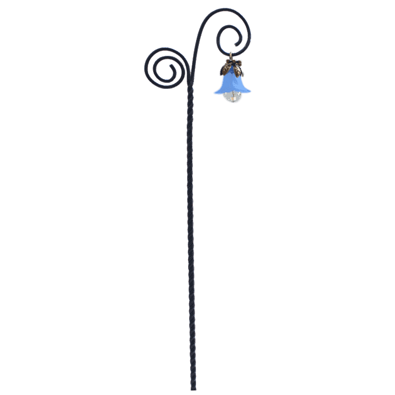 Flower Drop Swirl Lantern - Blue