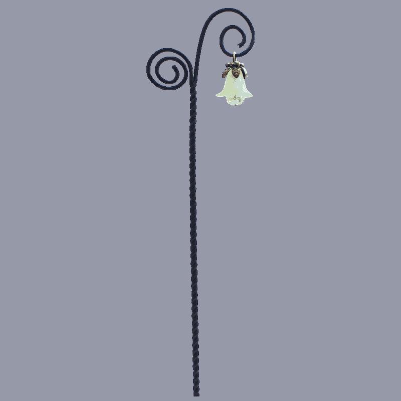 Flower Drop Swirl Lantern - Lime