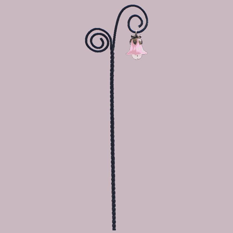 Flower Drop Swirl Lantern - Pink