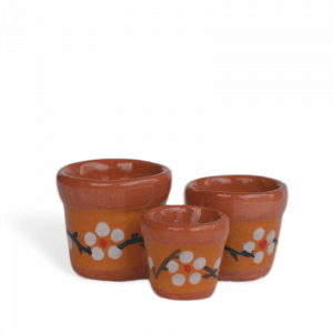 Floral Terracotta Pot Set (3)