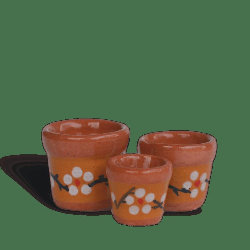 Floral Terracotta Pot Set 3