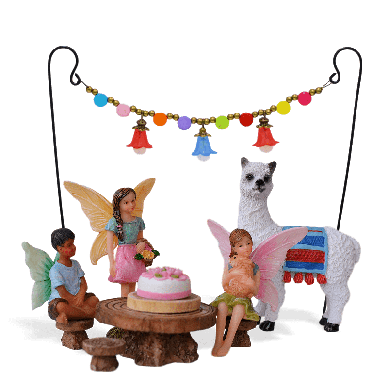 Llama Party Fairy Garden Kit