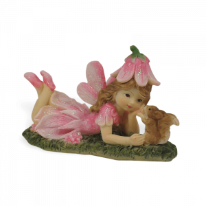 Pink Fairy with Squirrel
