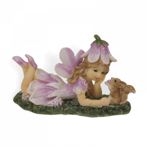 Purple Fairy with Squirrel