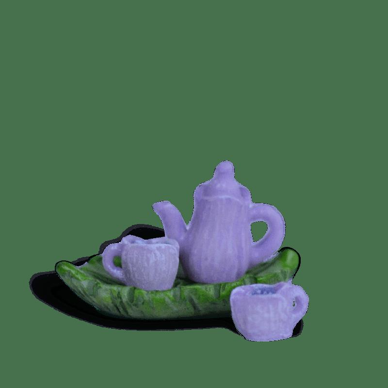 Purple Flower Tea Set