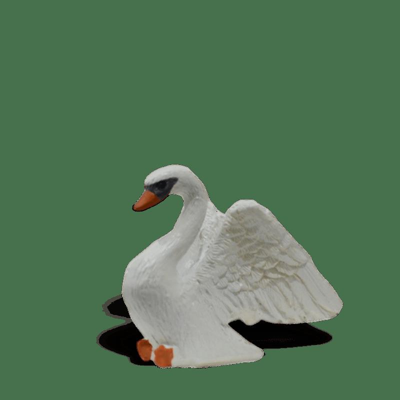 White Swan, fairy garden figurine