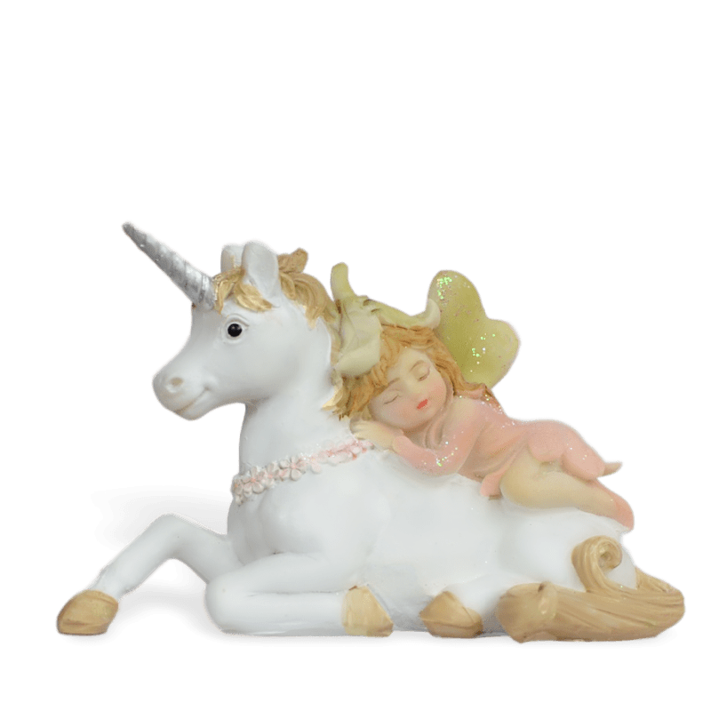 Unicorn with Sleeping Fairy