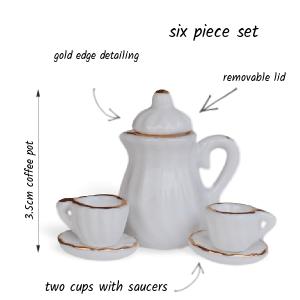 White Coffee Set