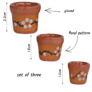 floral pot set