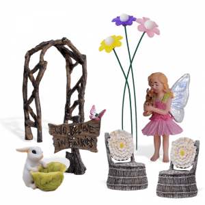 Bright Blossoms Fairy Garden Kit