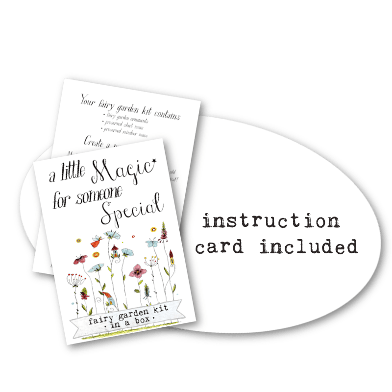 Fairy Garden Box Instruction Card