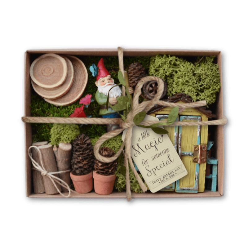 Gardening Gnome Fairy Garden Kit in a Box
