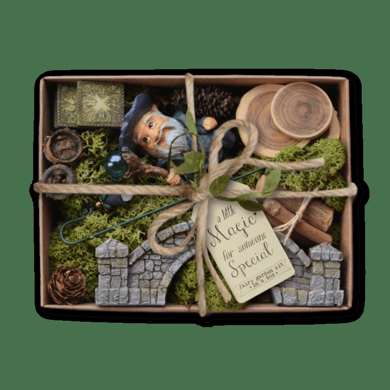 Wandering Wizard Fairy Garden Kit Box