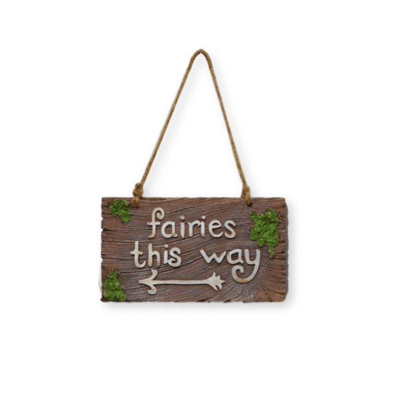Fairies This Way Plaque