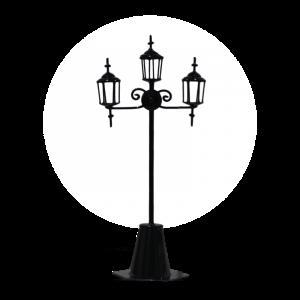 Triple Street Lamp
