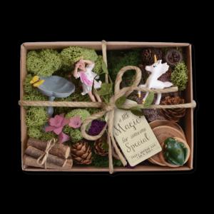 Fairy Garden Kit Box – Unicorn Meadow