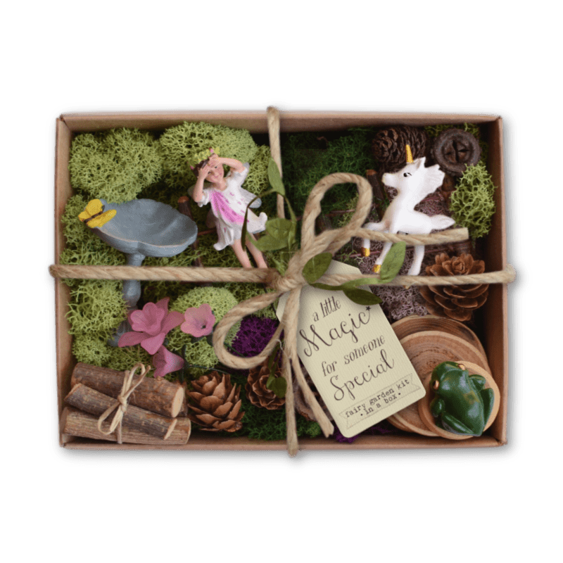 Fairy Garden Kit In A Box Unicorn Meadow