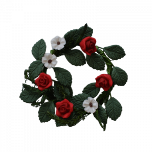 Flower Wreath – Red