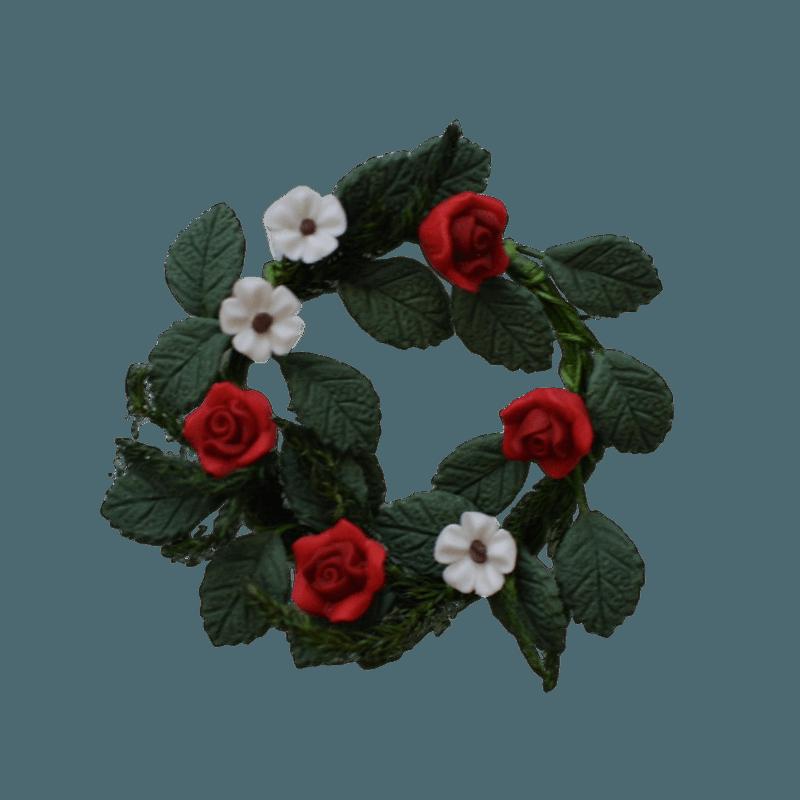 Flower Wreath - Red