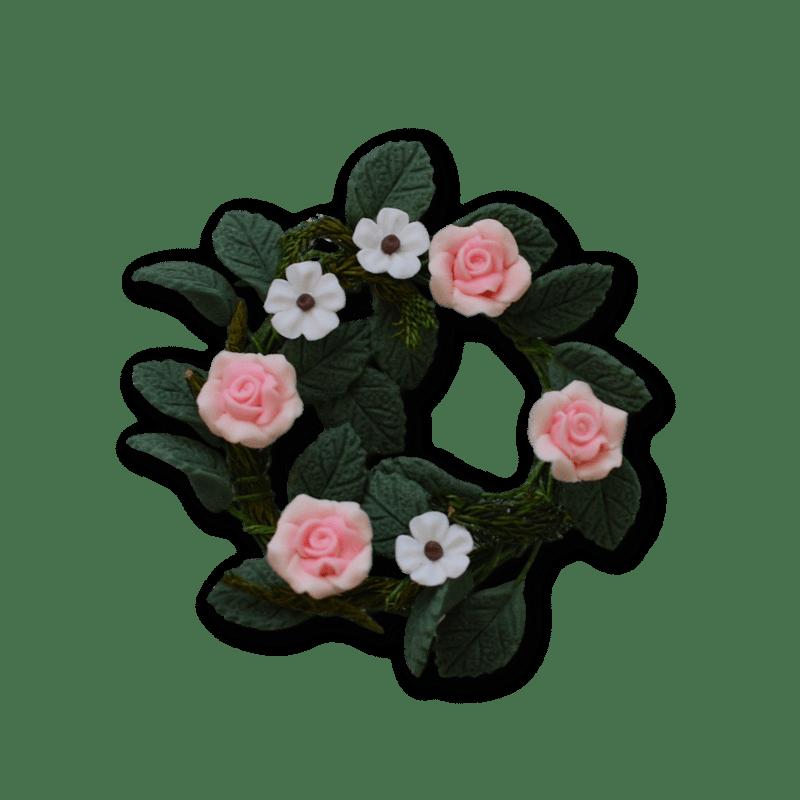 Pink Flower Wreath