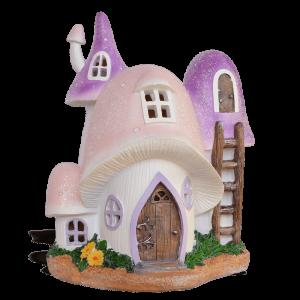 Mushroom Magic Fairy House – Solar