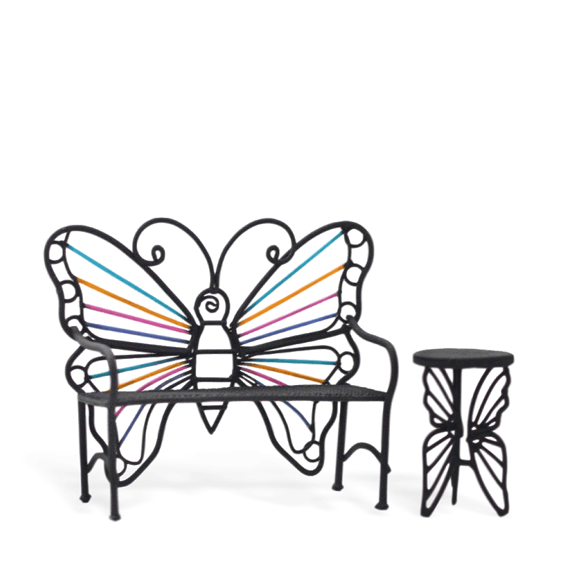 Rainbow Butterfly Seat and Table