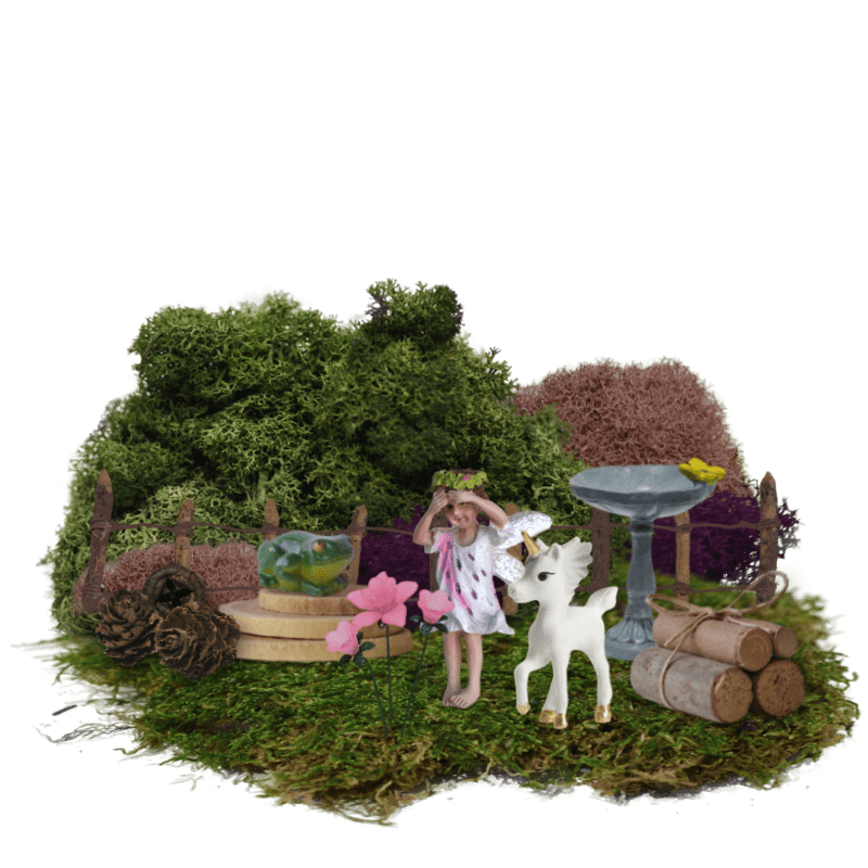 Unicorn Meadow Boxed Fairy Garden Kit