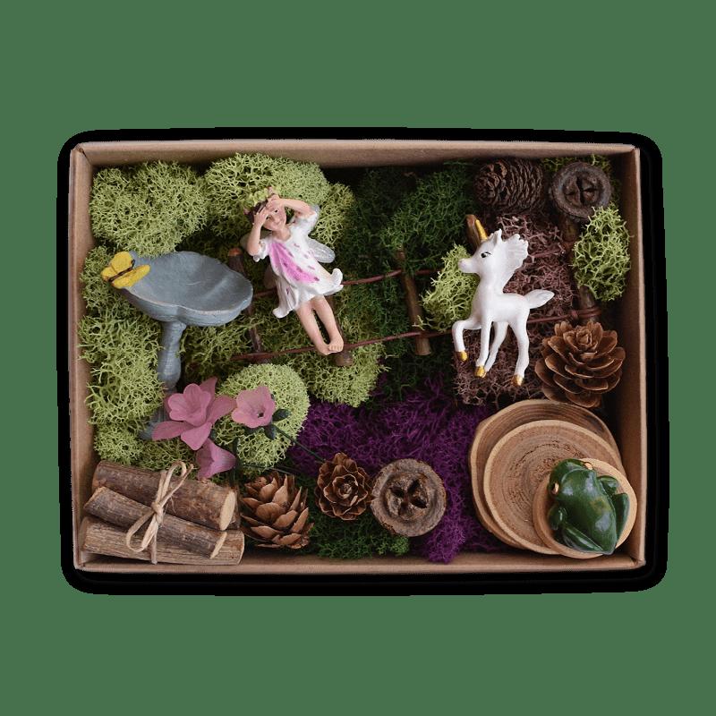 Unicorn Meadow Fairy Garden Kit in a Box