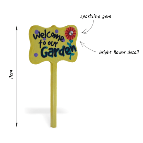 welcome garden sign