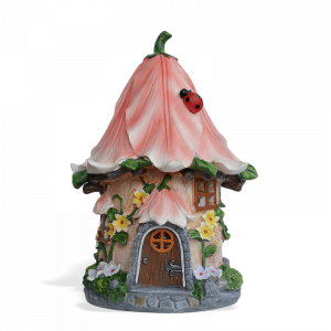Pink Lily Fairy House – Solar