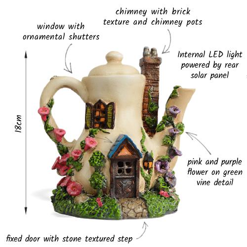 Teapot Solar Fairy House