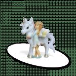 unicorn with green flower fairy