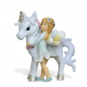Unicorn with Flower Fairy – Green